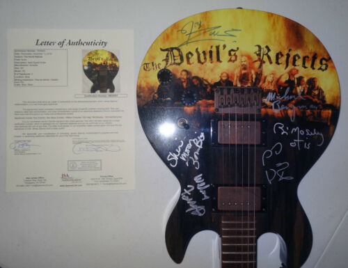 SIGNED ROB ZOMBIE DEVILS REJECTS SCHECTER GUITAR CERTIFIED JSA LOA # BB28367