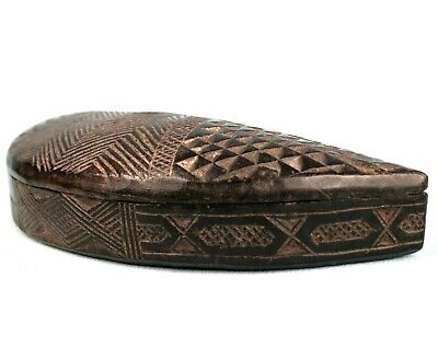 Art African Tribal - Antique Box Jewelry Wooden Atié Akié Attyé - 24 CMS