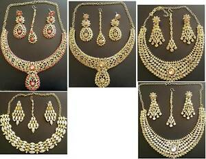 Indian Stone Earring & Necklace Sets (type #6)