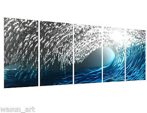 Modern contemporary abstract painting metal wall art sculpture wall hanging deco