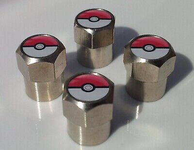 POKEMON POKEBALL POKE BALL TYRE VALVE CAPS FOR TIRE WHEEL