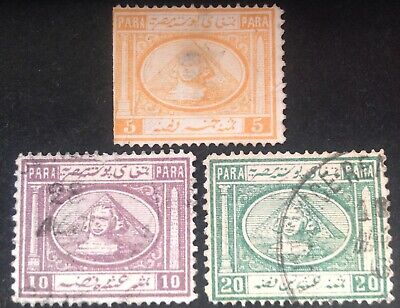 Egypt 1867 3 x stamps all used