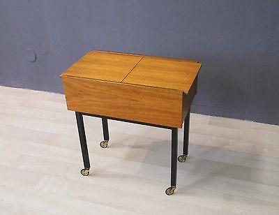 Opal Teak Nähkasten Nähwagen mid century 50er 50s 60er 60s vintage sewing box