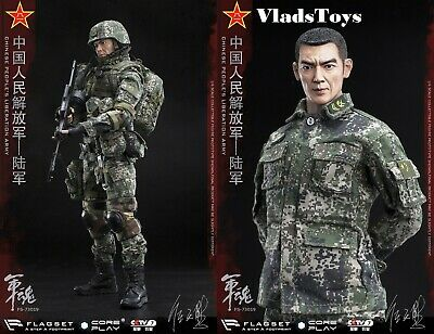 Armee-maschine (The Chinese People's Liberation Armee Maschine Gunner 1/6 Flagset 73019 USA)