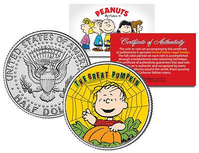 Peanuts HALLOWEEN GREAT PUMPKIN LINUS WEB JFK Half Dollar U.S. Coin *Licensed - Simpsons Halloween Great Pumpkin