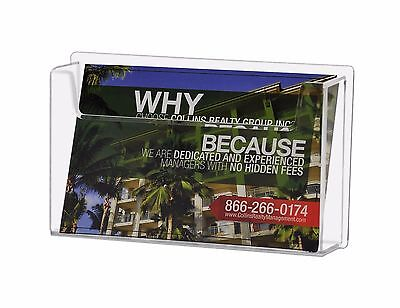 Acrylic Wall Mount Single Pocket Post Card Holder Display System for 6 x 4 Cards