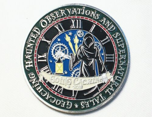 Going Caching 2018 - Haunted  Mysteries - New Unactivated Geocoin