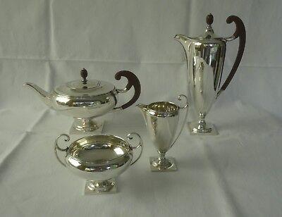 TOLLES 4-teiliges englisches 925er Silber Teeservice , J. Round, Sheffield ~1930