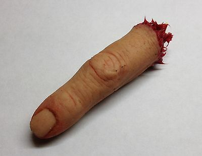 Prosthetic severed silicone finger horror film prop walking dead chainsaw