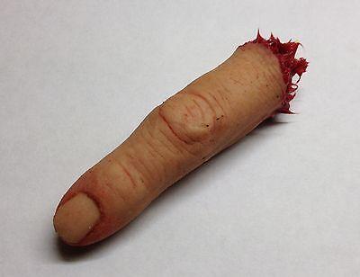 Prosthetic severed silicone finger Human Halloween horror film prop FX