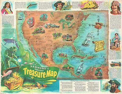 1959 Mazoujian Pictorial Treasure Map of North and Central