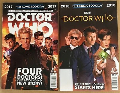 2 Free Comic Book Day Doctor Who 2017   2018 Fcbd Four Doctor Issues