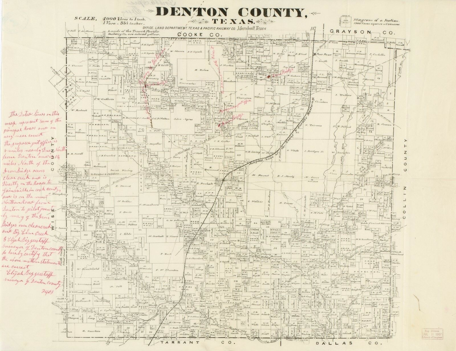 Texas Map Of Cities Towns And Counties.Details About A4 Reprint Of American Cities Towns States Map Denton County Texas