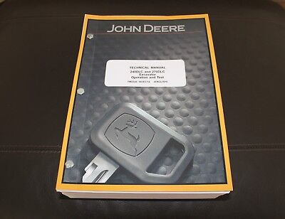 John Deere 240dlc 270dlc Excavator Service Operation Test Manual Tm2320