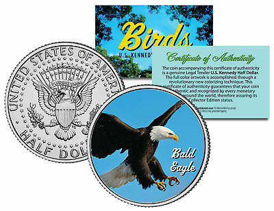 BALD EAGLE BIRD JFK Kennedy Half Dollar US Colorized Coin
