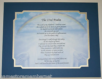 The 23Rd Psalm Prayer Verse On Hands Art Background Great Gift Idea