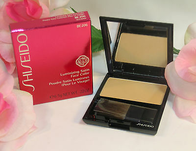(New Shiseido Luminizing Satin Face Color BE 206 .22 oz 6g Full Size Beige Powder)