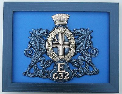 Large Scale Framed CITY OF LONDON POLICE Badge Plaque