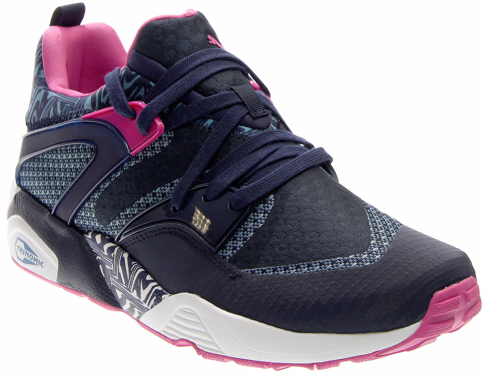 Puma Blaze Of Glory Woven  Casual Running  Shoes - Navy - Mens