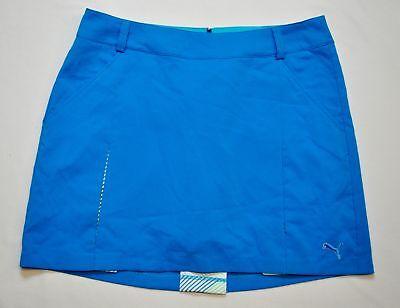 Women's PUMA - Golf Pleated Woven Short Lined Skirt Diva Blue size 10 (T55) $70