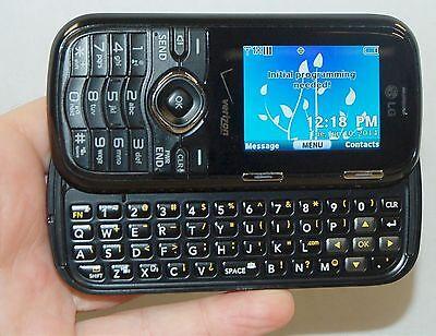 LG VN250 Cosmos Verizon BLACK Cell Phone Slider Full Qwerty Keys 1.3MP Camera 2G