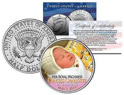 Her Royal Highness PRINCESS CHARLOTTE of Cambridge 2015 JFK Half Dollar US Coin