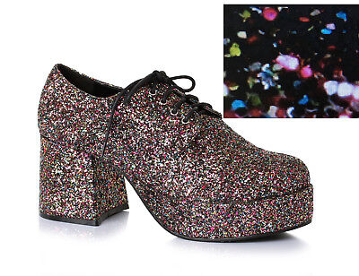 Rainbow Glitter Pimp Daddy Disco Dancer Platform Costume Mens Shoes 9 10 11 12