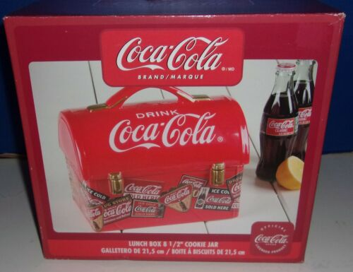 New in Box Gibson Coca-Cola Lunch Box Cookie Jar
