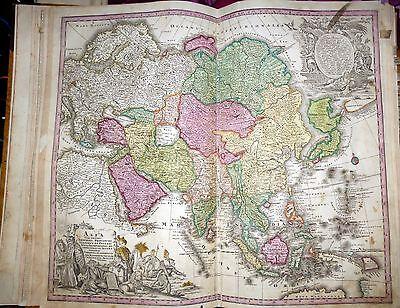 ASIA, CHINA, JAPAN, INDIA, ARABIA, LARGE MAP BY MATTEO SEUTTER, WIEN, 1728