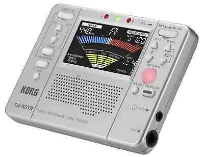 Korg Stimmgerät / Tuner - Metronom - Tone Trainer TM-50TR - Farbe: Silber (Korg Stimmgerät Metronom)
