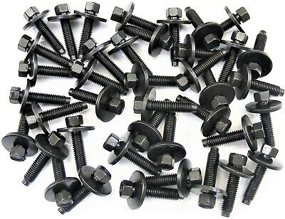 Body Bolts- M6-1.0 x 28mm Long- 8mm Hex- 19mm Washer- 40 bolts- G#113F