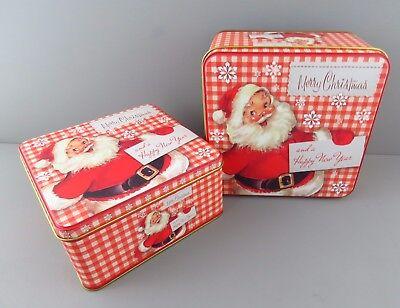 scatola latta confezione regalo biscotti caramelle babbo natale box classico