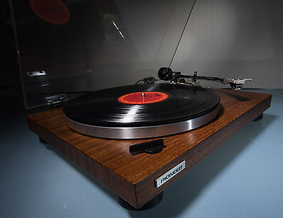 Vintage Pioneer PL-512 Belt Drive Turntable Shure Cart Real Walnut Veneer