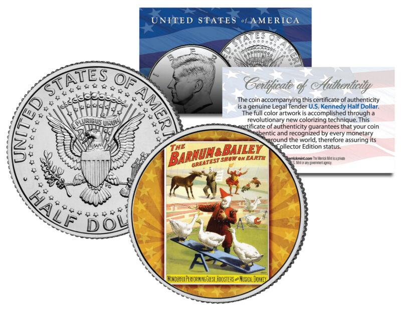 RINGLING BROS & BARNUM BAILEY CIRCUS * Geese * Colorized JFK Half Dollar Coin