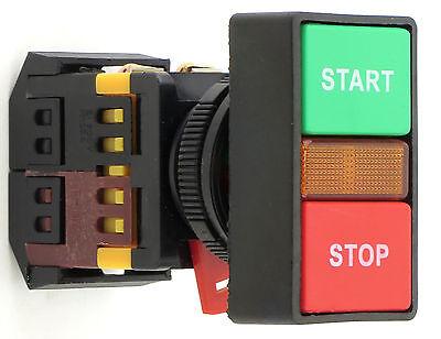 Yc-30-gsrs-y-2 Start-stop Illuminated Run Light Push Button 120v Led