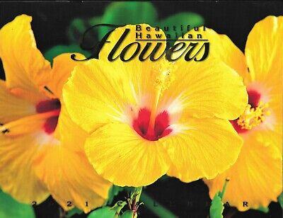 2021 Hawaiian Calendar - Beautiful Hawaii Flowers - 12 month Hawaii -
