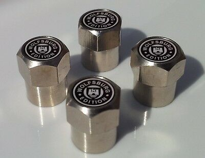 VOLKSWAGON WOLFSBURG EDITION ALLUMINIUM TYRE VALVE CAPS FOR TIRE WHEEL