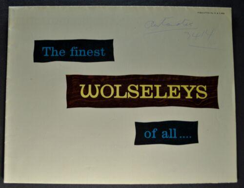 1960 Wolseley 6/99 Sedan Sales Brochure Folder Saloon Nice Original 60