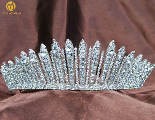 Fantastic Wedding Tiara Pageant Crown Rhinestones Headband Bridal Prom Party New