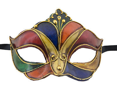 Mask from Venice in Tip Harlequin Authentic Paper Mache 17 -V52