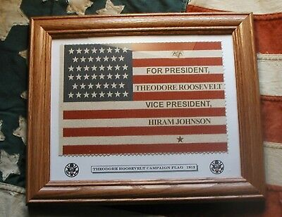 46 star Flag. President Theodore Teddy TR Roosevelt Campaign Flag 1912