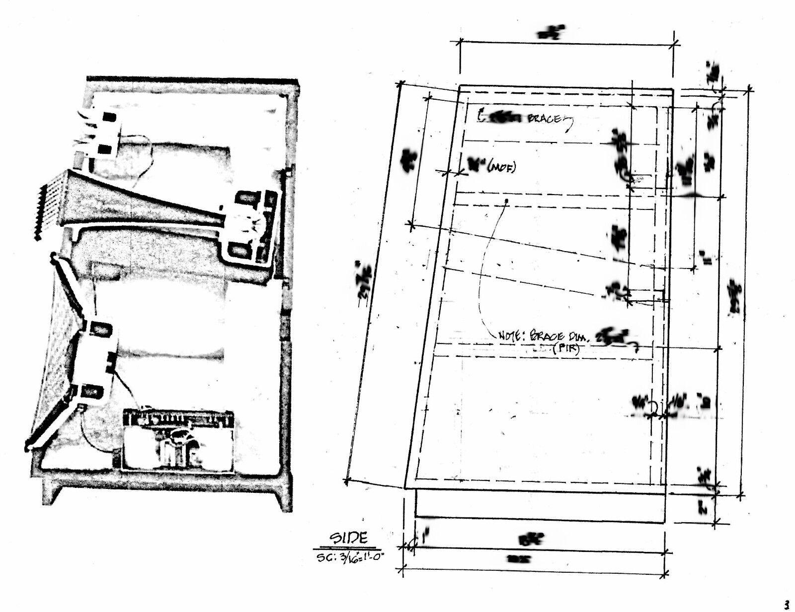 JBL L300 Summit Speaker Loudspeaker Cabinet Plans Drawings