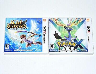 Pokemon X Kid Icarus Uprising (Nintendo 3DS, 2013) Video Games Manual Case