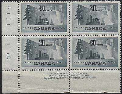 Canada 316 Plate Block Lower Left #1 Mint Not Hinged