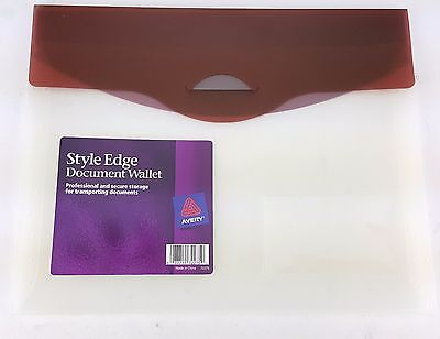 4 Pack Lot Document Wallet Carry Case Burgandy Secure Storage Avery Style Edge
