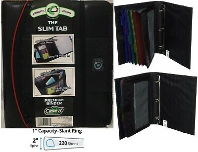 Case-it Premium Binder The Slim Tab 1 Slant D-rings 220 Sheets 5 Tab Folder