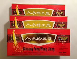 3 Packs Red Panax Ginseng Royal Jelly Extract Oral Liquid 30 Vials