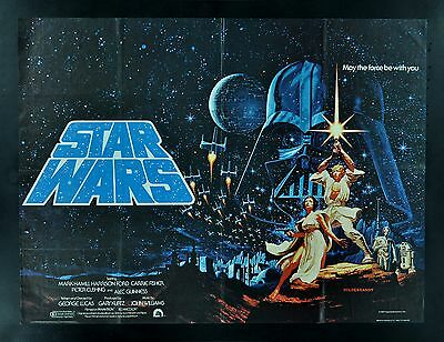 STAR WARS ✯ BRITISH QUAD CineMasterpieces ORIGINAL MOVIE POSTER 1977 HILDEBRANDT