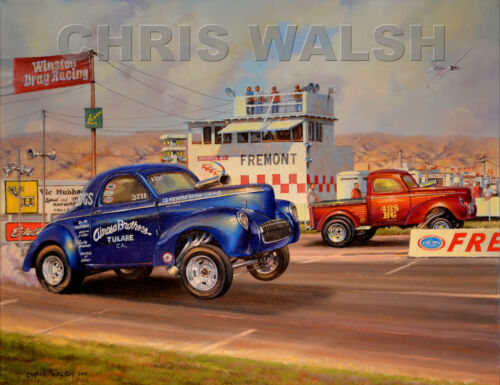 Drag Racing action prints...Airoso Brothers at Fremont