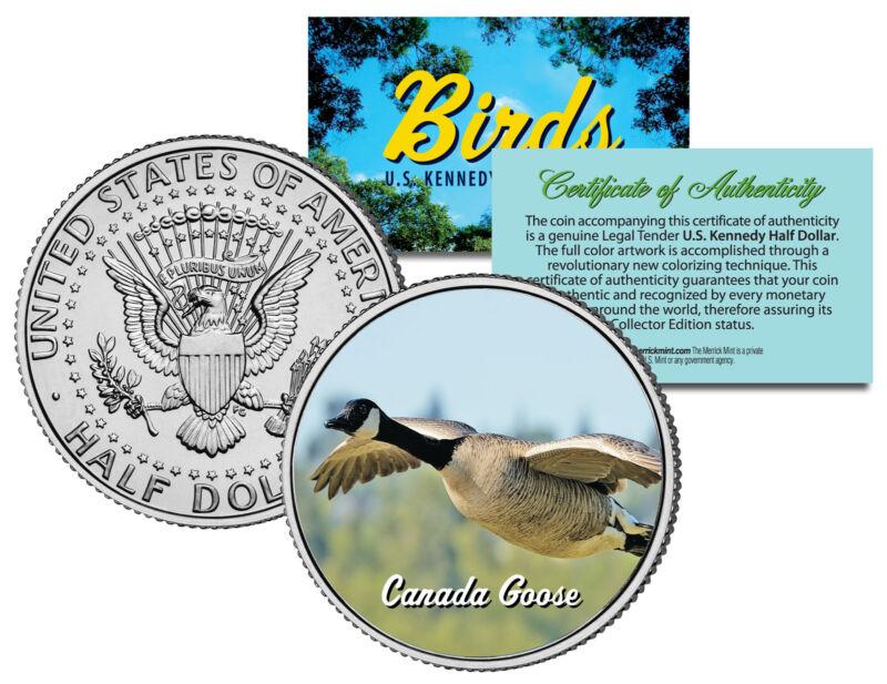 CANADA GOOSE ** Collectible Birds ** JFK Kennedy Half Dollar Colorized U.S. Coin